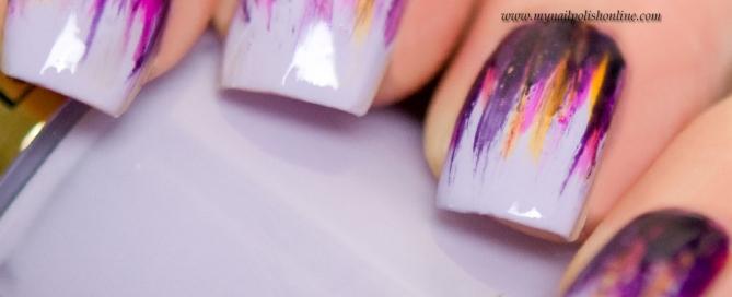 Nail Art - Waterfall