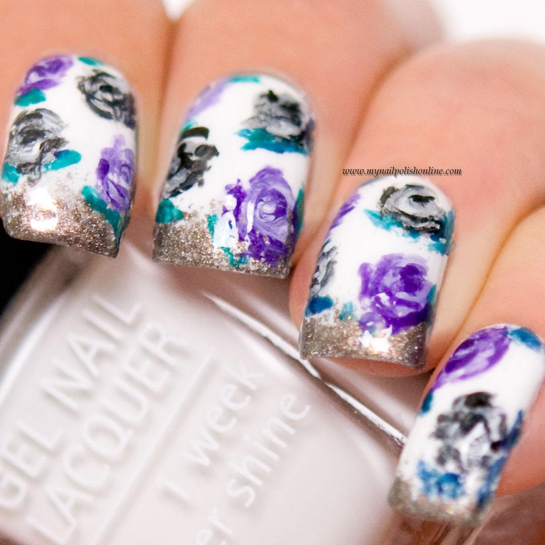 Nail Art - Roses