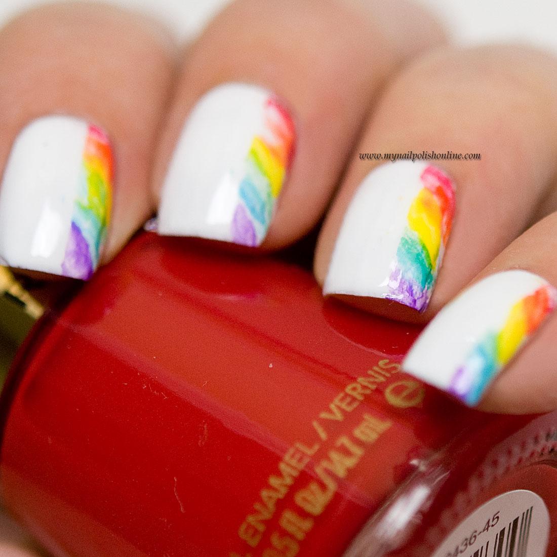 31DC2015 - Day9 Rainbow Nails