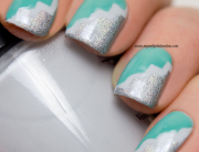 Nail Art with tape manicure
