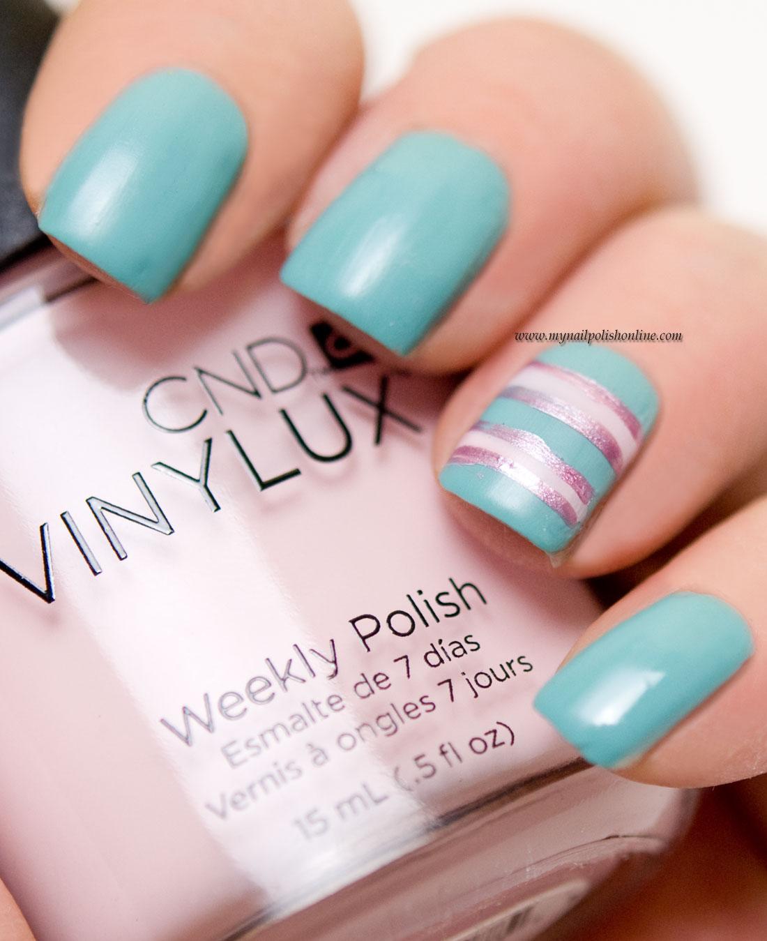 Concrete And Nail Polish Striped Nail Art: Pastel Nail Art With Stripes