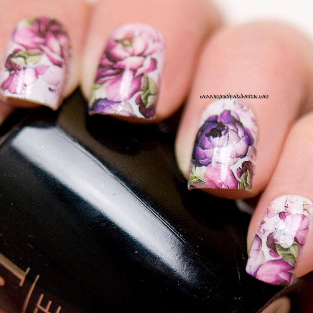 Floral nail wraps - Saijtam