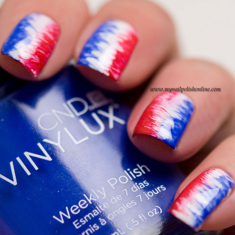 Labor Day Nails - Guest post at Eleven.se