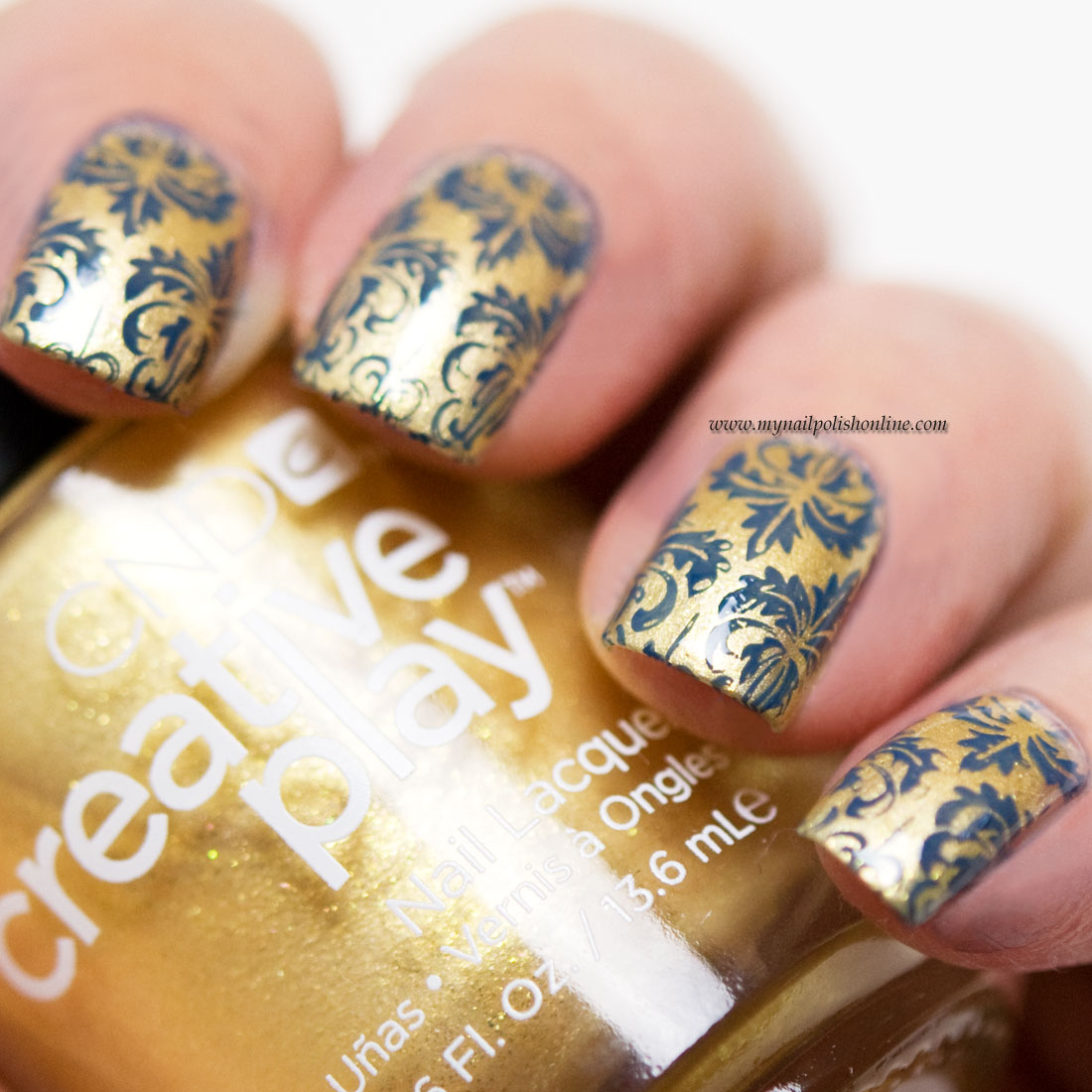 Nail art with stamping