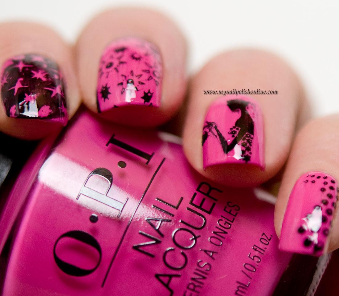 Stamping on pink