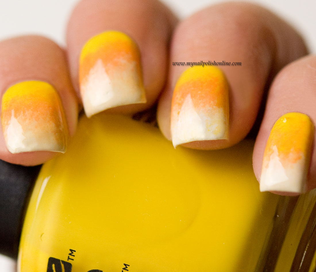 Hallowen Nail Art Candy Corn