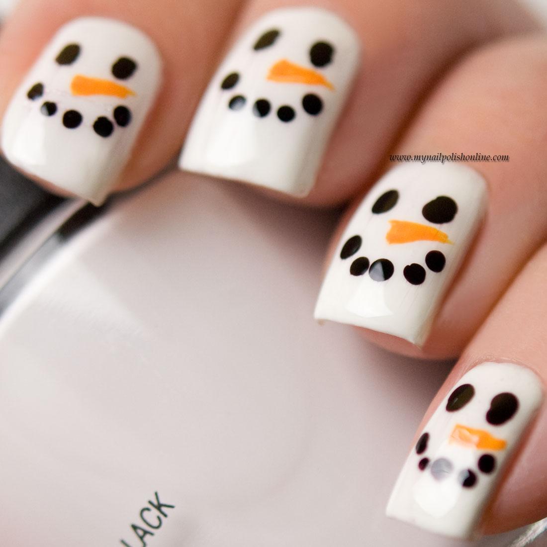 Nail Art Snowman